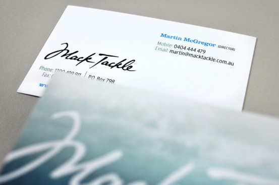 Mack Tackle business card 2