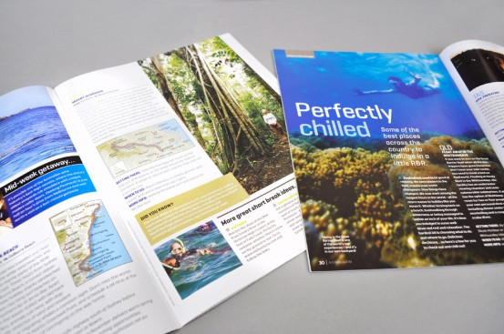 Hardie Grant Magazines for Tourism Australia spreads