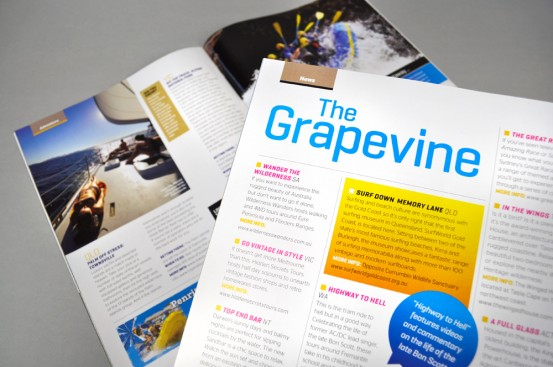 Hardie Grant Magazines for Tourism Australia Grapevine