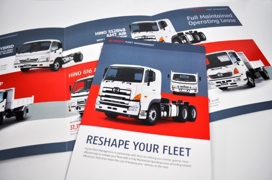 Toyota Fleet Management trade show brochure