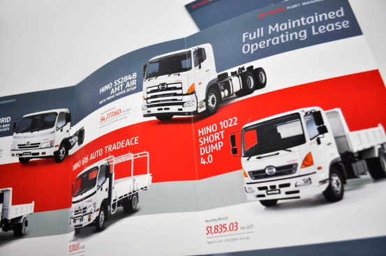 Toyota Fleet Management trade show brochure spread